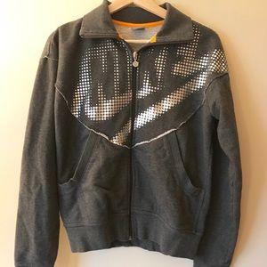 Nike Full Zip sweatshirt long sleeve sweater gray